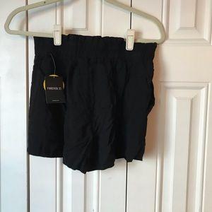 Forever 21 Shorts - NWT Black Paper Bag Shorts M